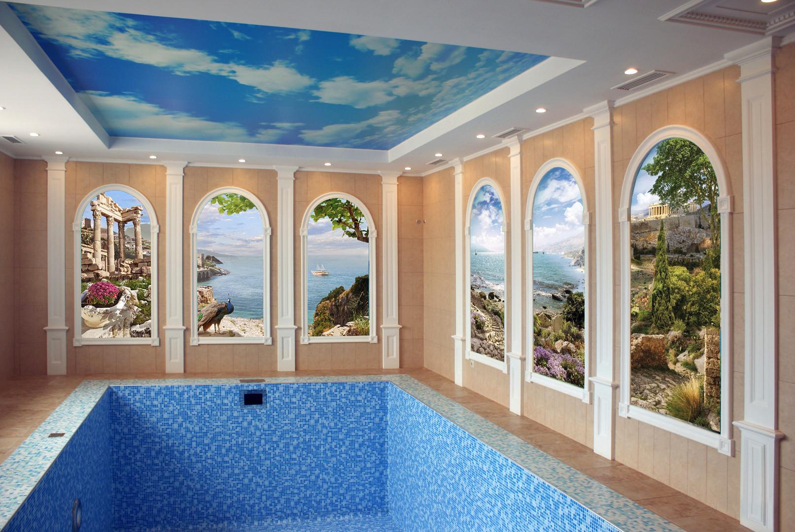 влагостойкие фрески для бассейна