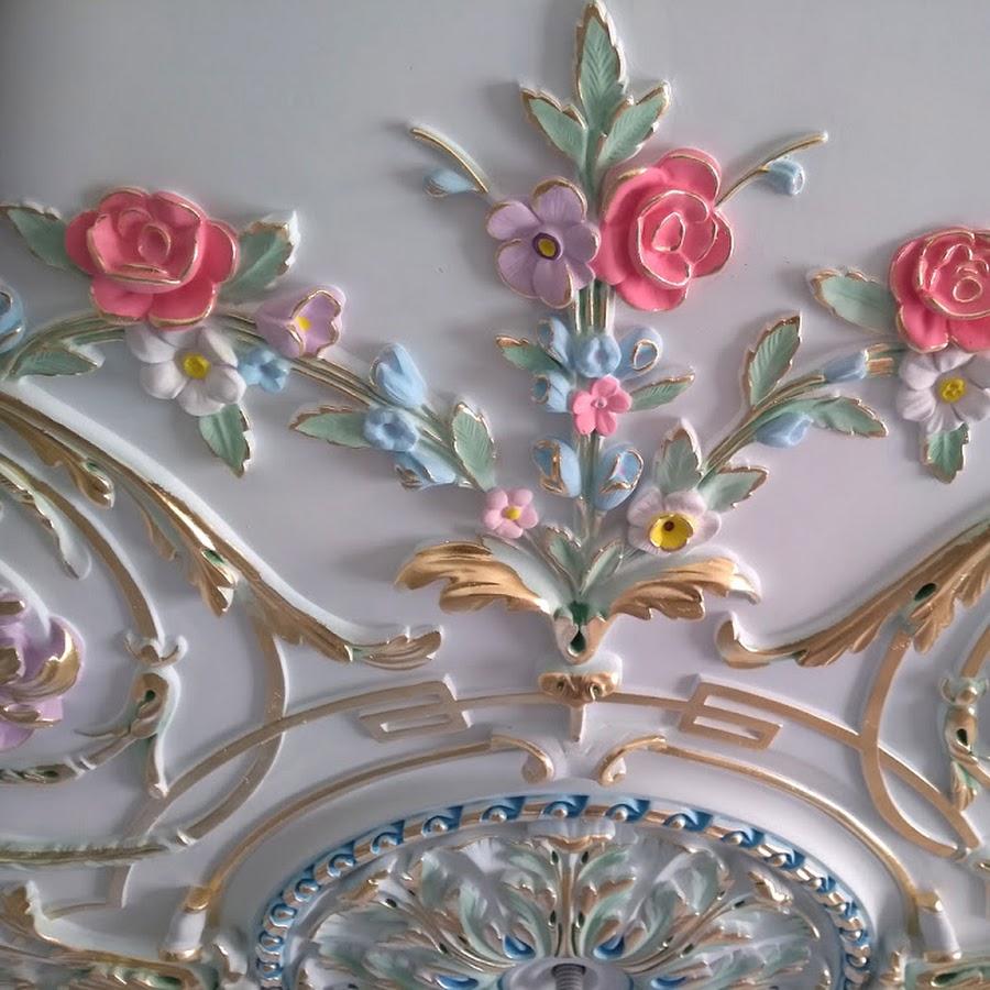 роспись настенной лепнины