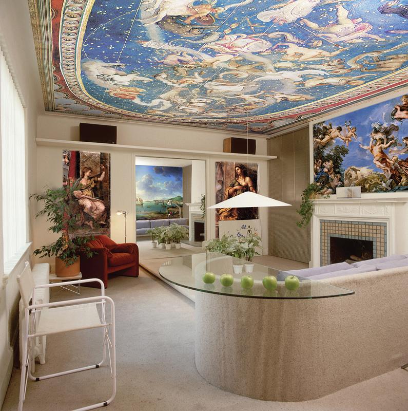 роспись потолка в коттедже в Симферополе